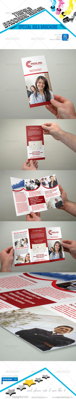 Special Idea Trifold Brochure Template - Brochures Print Templates