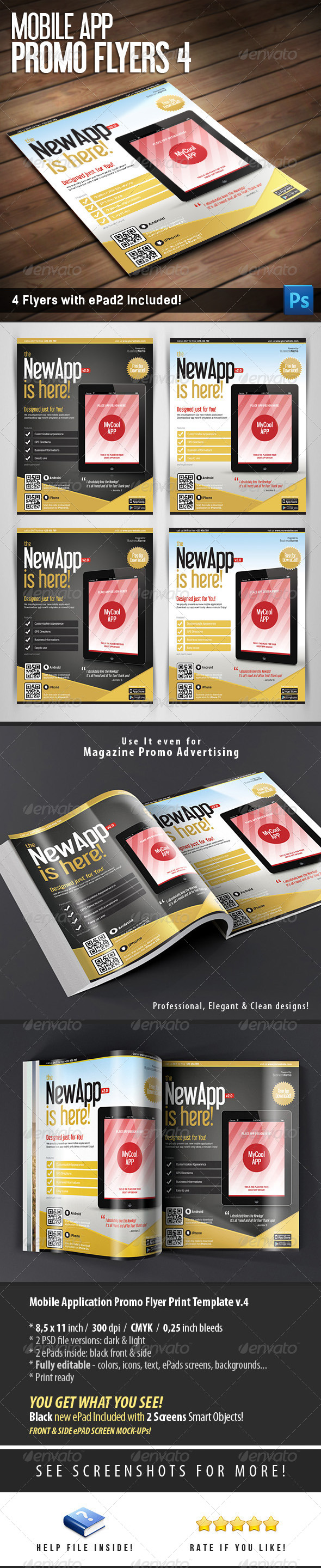 Mobile App Flyers Template v.4 - Commerce Flyers