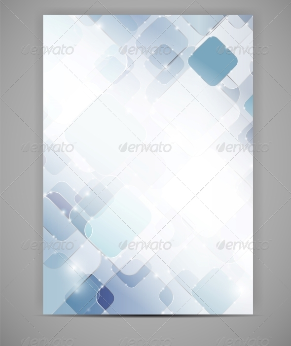 Business Blank Template Vector Illustration - Backgrounds Decorative