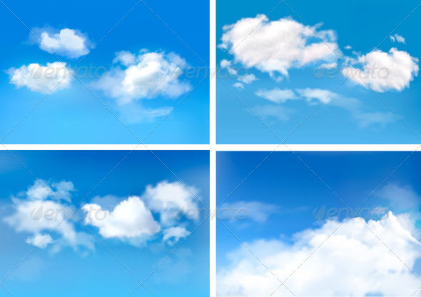 Blue Sky with Clouds Backgrounds - Landscapes Nature