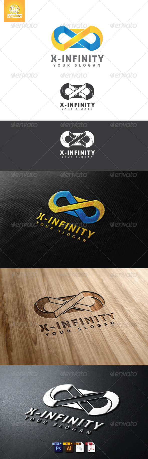 X-Infintiy Logo Template - Letters Logo Templates