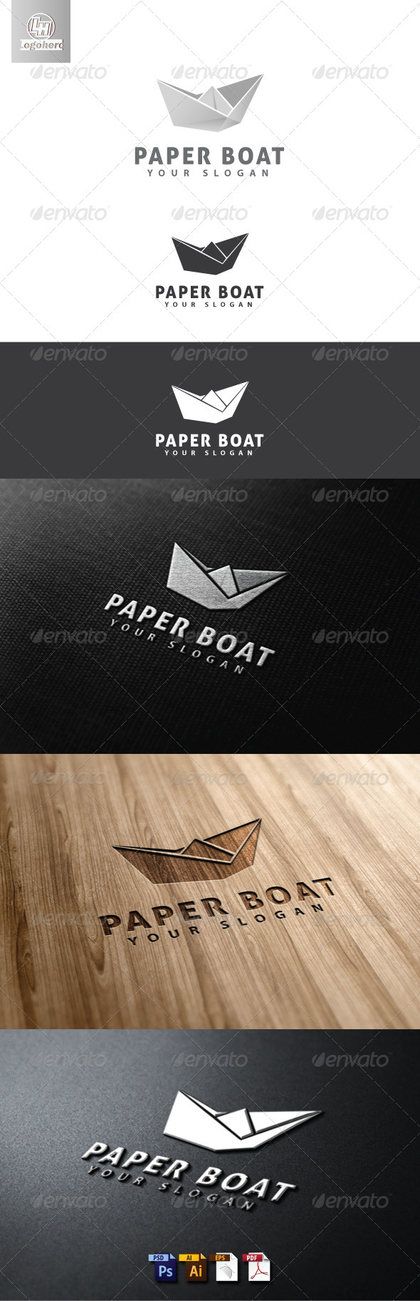 Paper Boat Logo Template - Objects Logo Templates