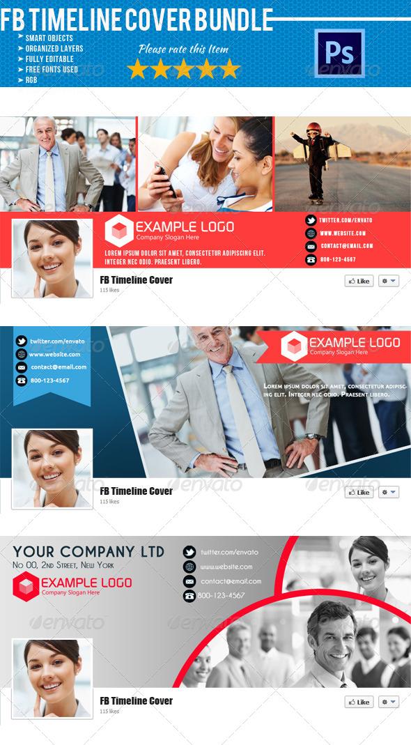 Corporate FB Timeline Cover Bundle 01 - Facebook Timeline Covers Social Media
