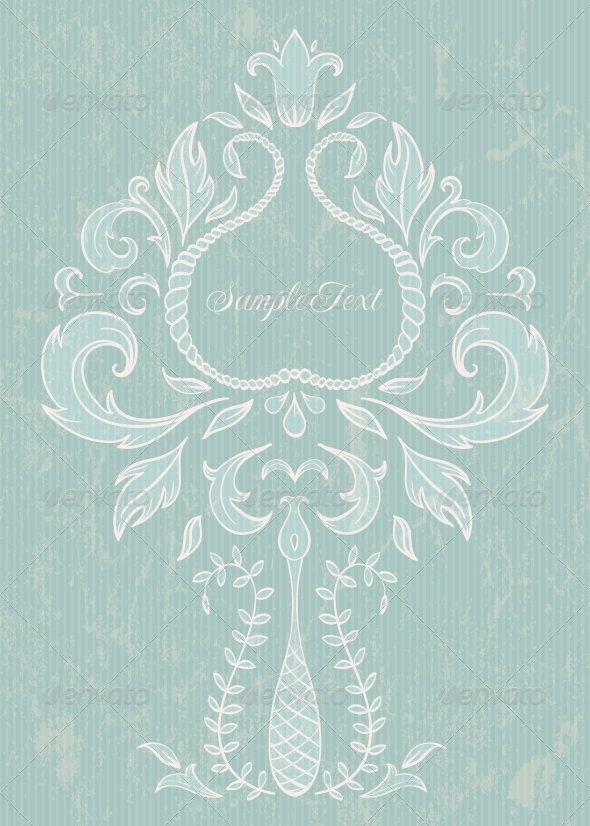 Floral Design Element - Flourishes / Swirls Decorative