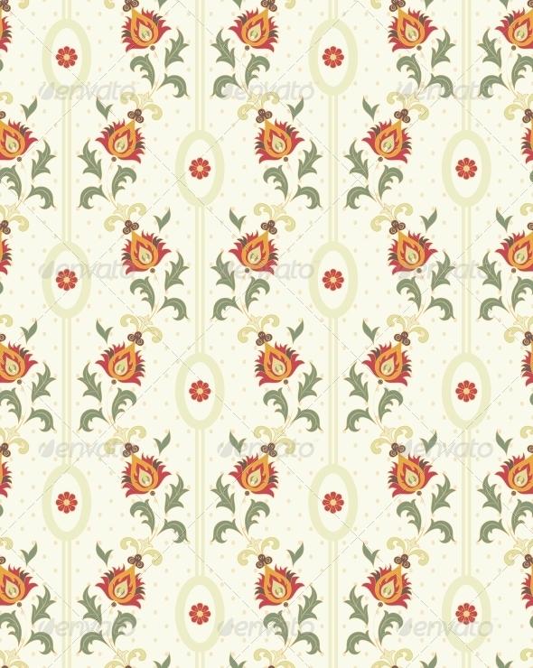Retro Floral Wallpaper - Patterns Decorative