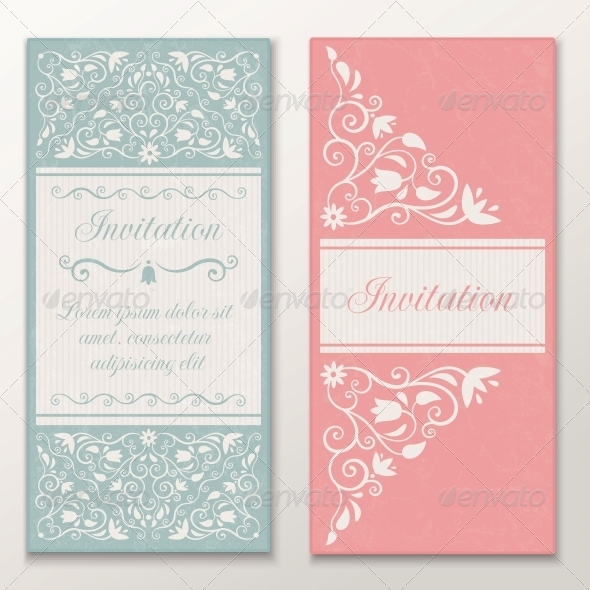 Set of Wedding Invitations. - Weddings Seasons/Holidays