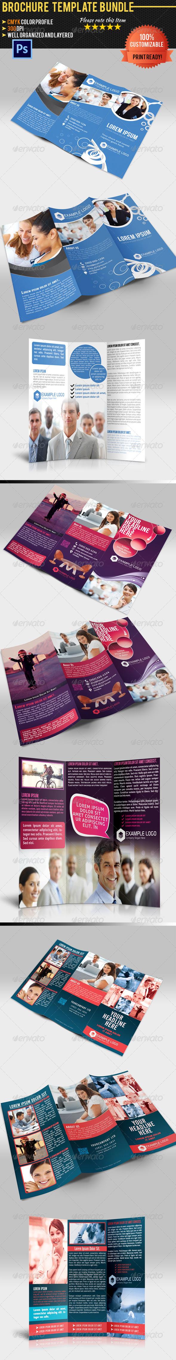 Tri-Fold Corporate Business Brochure Bundle 01 - Corporate Brochures