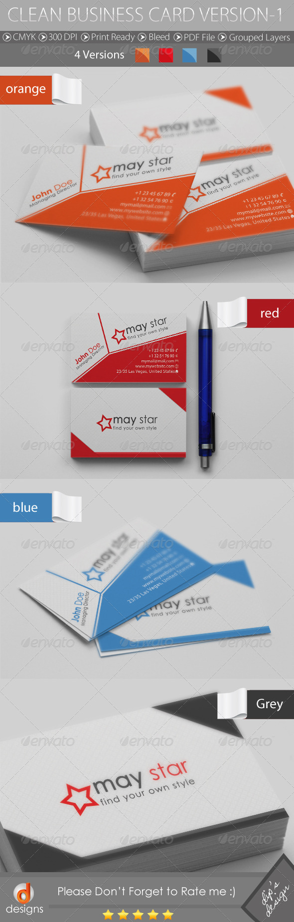 Clean Business Card Version-1 - Corporate Business Cards