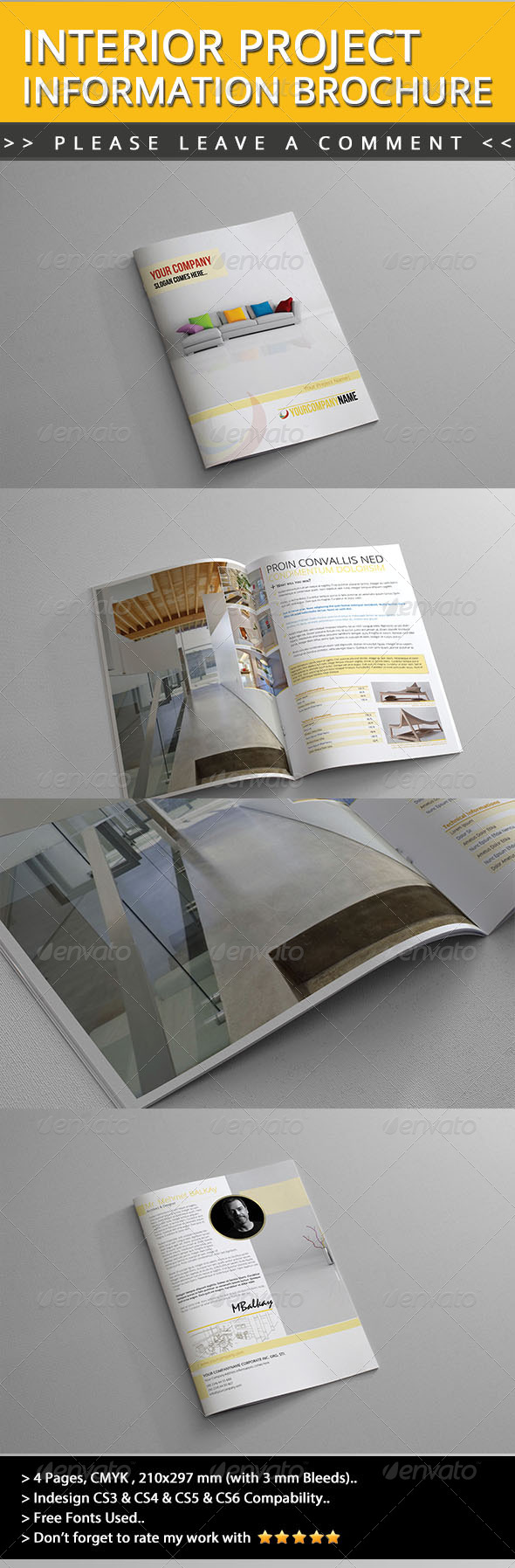 Interior Project Information Brochure - Informational Brochures