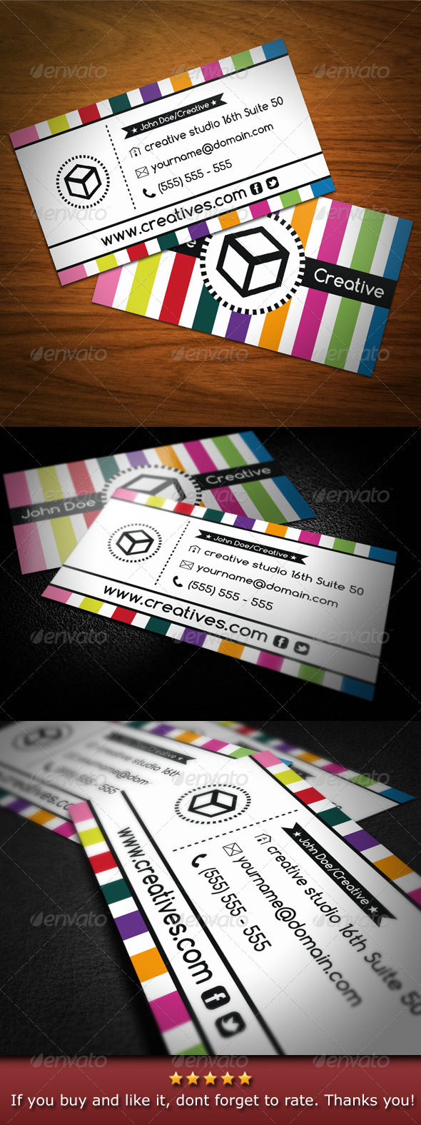 Colorful Creative Business Card - Business Cards Print Templates