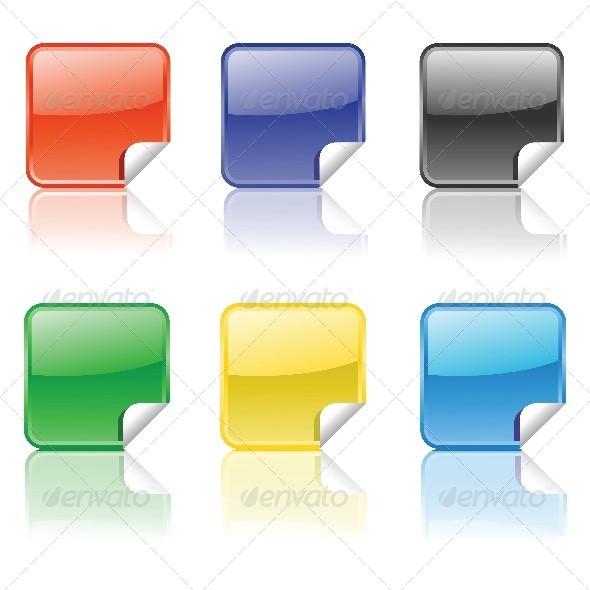 Set of Stickers - Web Elements Vectors