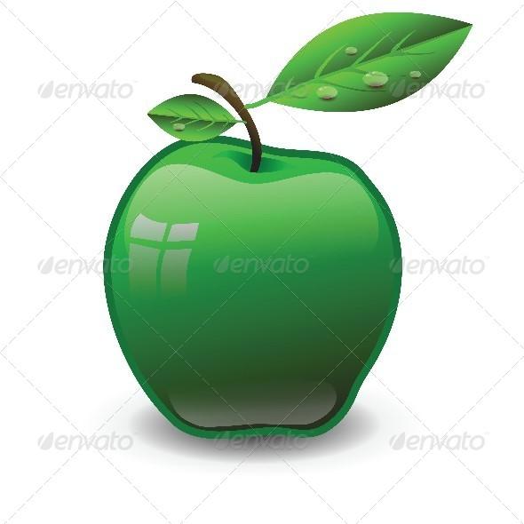Green Apple - Food Objects