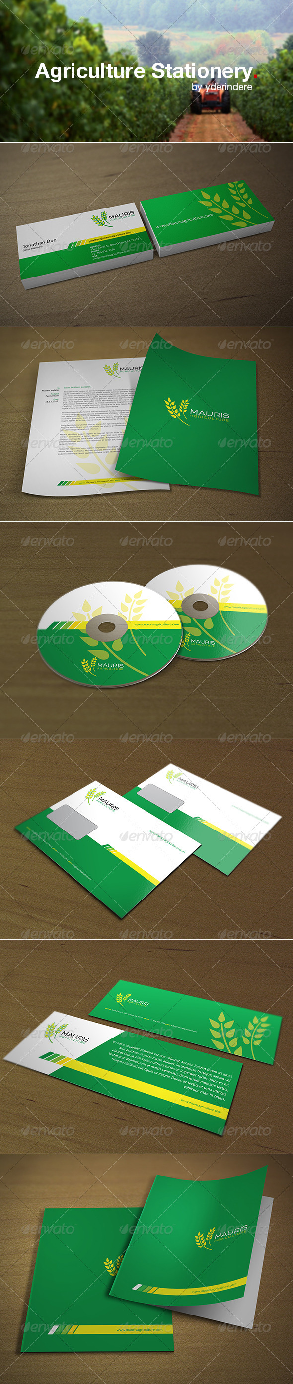 Agriculture Corporate Identity - Stationery Print Templates