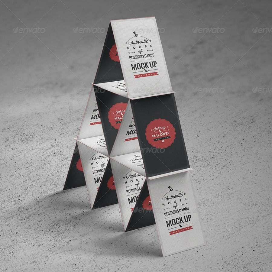 House of Business Cards   Mock-Up by punedesign   GraphicRiver