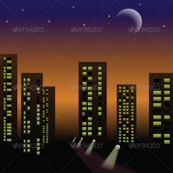 Night City - Buildings Objects