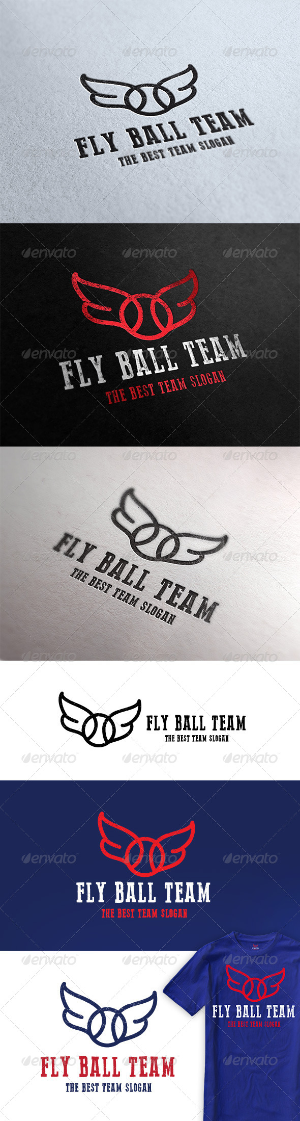 Fly Ball Team Logo - Crests Logo Templates