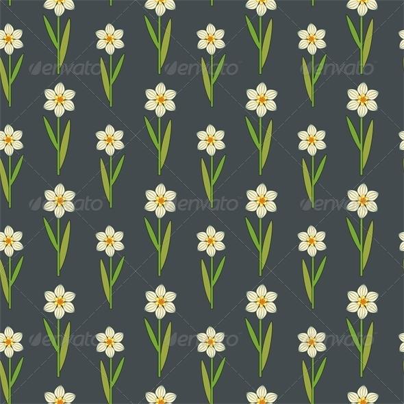 Daffodils Pattern - Patterns Decorative