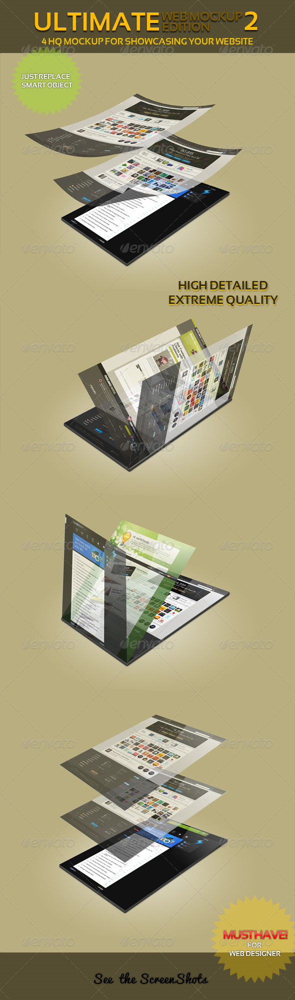 Ultimate Web Mockup Pack 2 - Website Displays