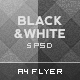 Black and White Photographer Flyer Template - GraphicRiver Item for Sale