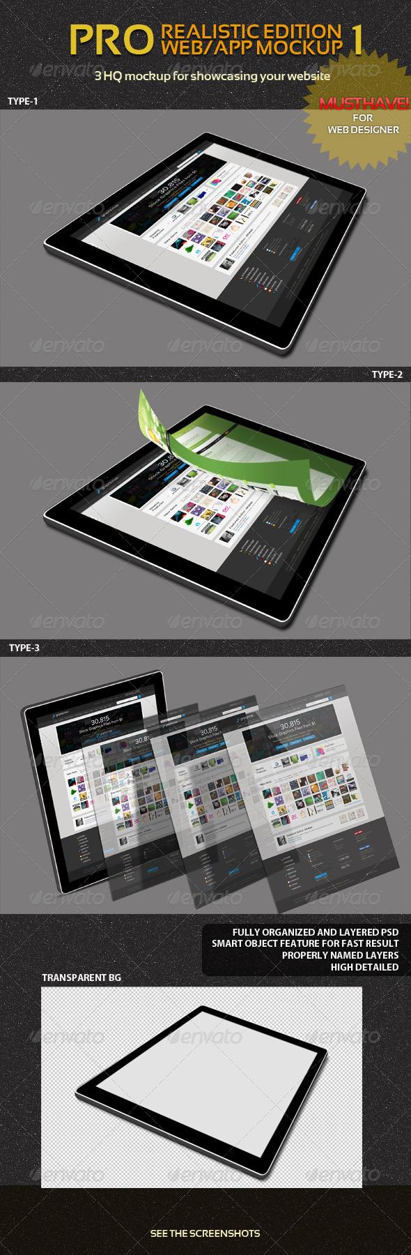 Pro Web/App Mockup Pack 1 - Website Displays