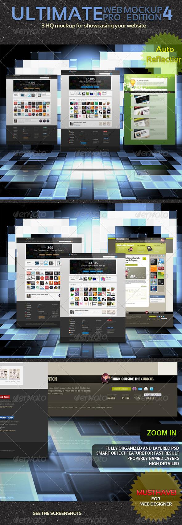 Ultimate Web Mockup Pack 4 - Website Displays