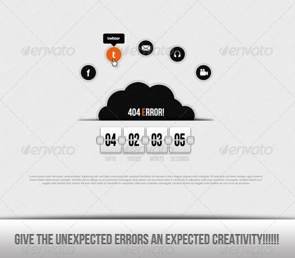 White Error - 404 Pages Web Elements
