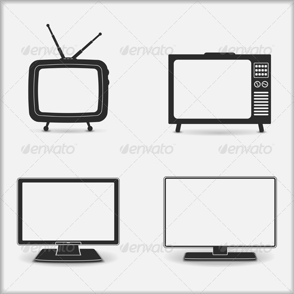TV Icons - Technology Conceptual