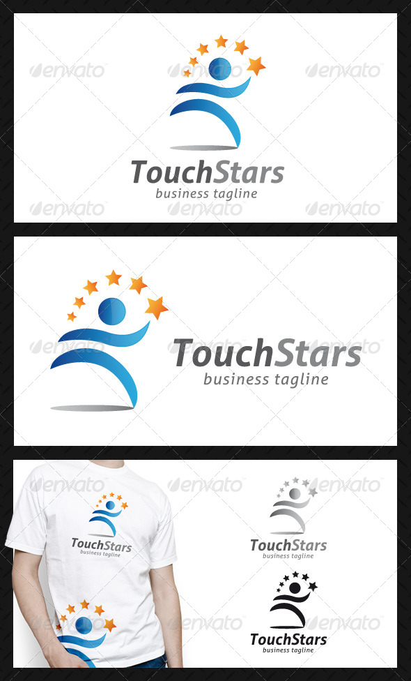 Touch Stars People Logo Template - Humans Logo Templates
