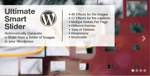 Ultimate Smart Slider - Wordpress - CodeCanyon Item for Sale