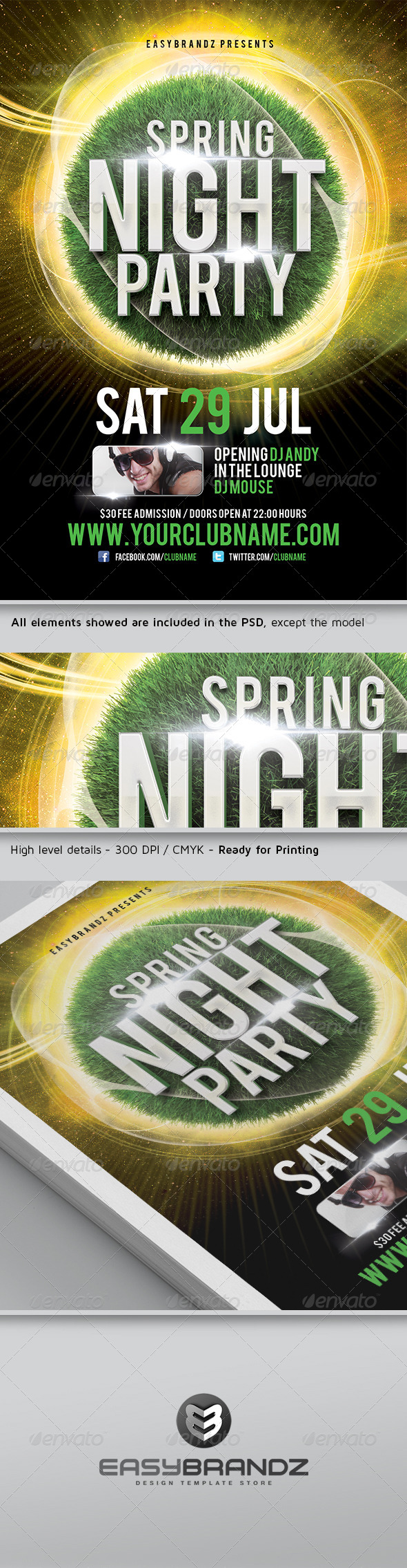 Spring Night Flyer Template - Events Flyers