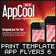 Mobile App Flyers Template 6 - GraphicRiver Item for Sale