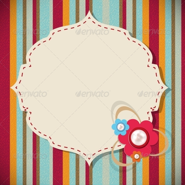 Frame in Retro Vintage Background - Flowers & Plants Nature