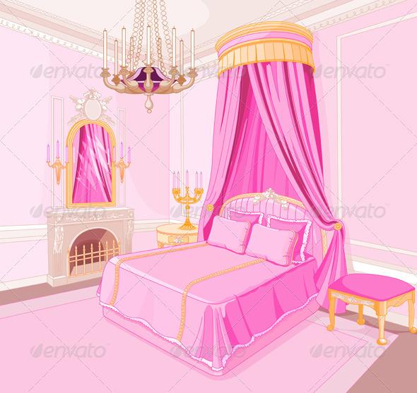 Princess Bedroom - Backgrounds Decorative
