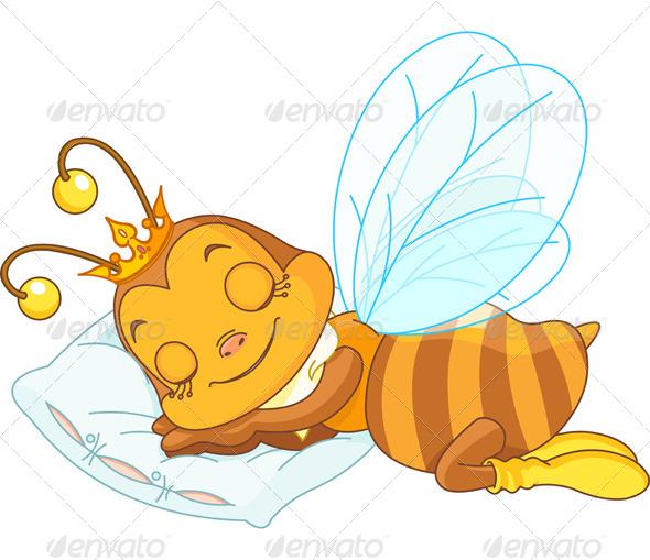 Sleeping Bee - Animals Characters