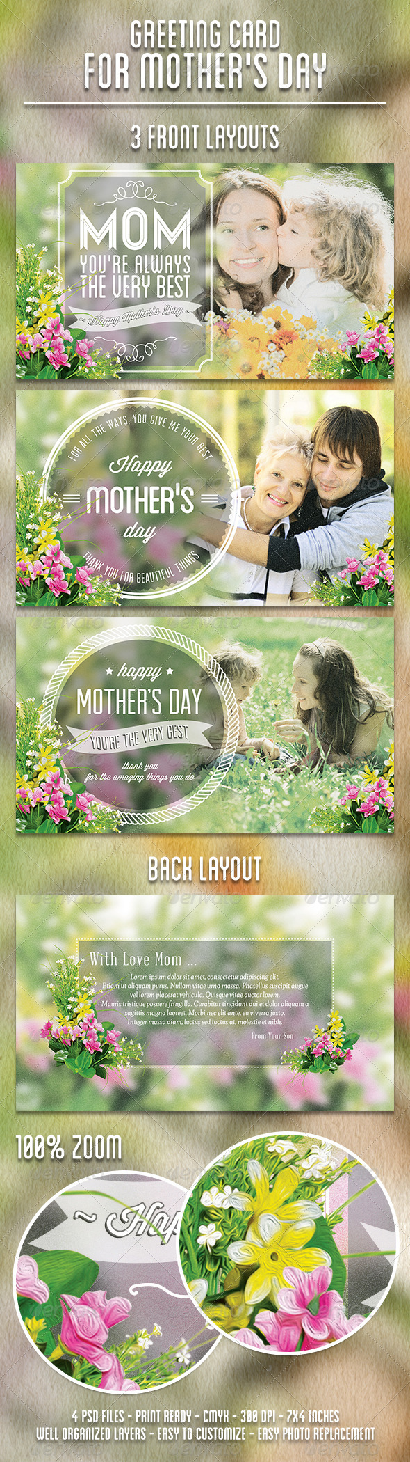 Greeting Card for Mother's Day - Holiday Greeting Cards