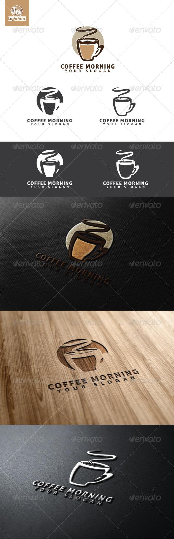 Coffee Morning Logo Template - Food Logo Templates