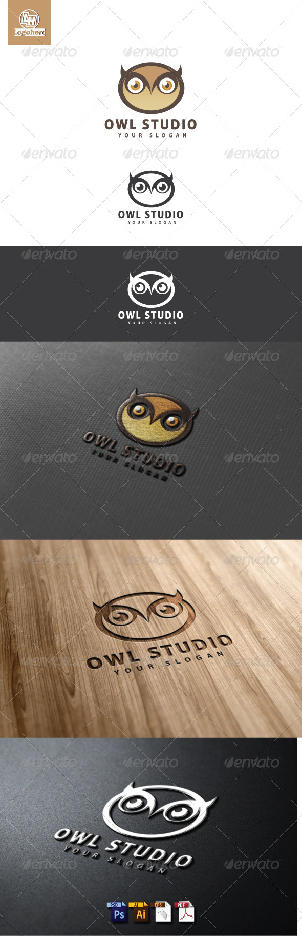 Owl Studio Logo Template - Animals Logo Templates