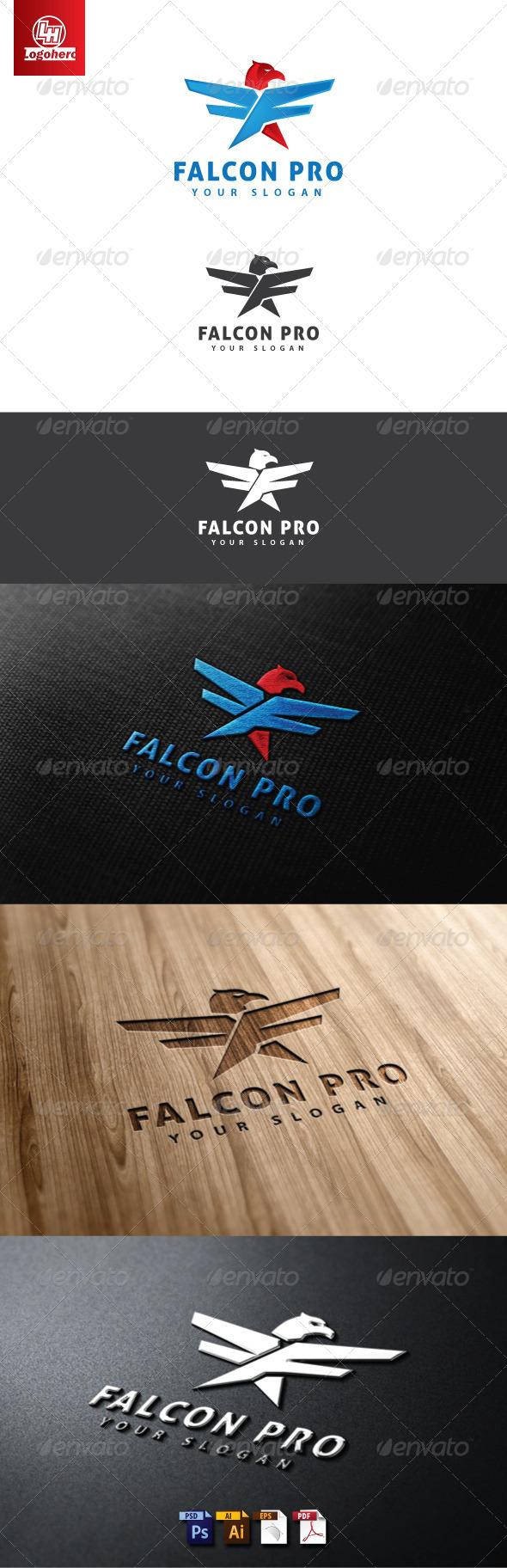 Falcon Pro Logo Template.zip - Animals Logo Templates