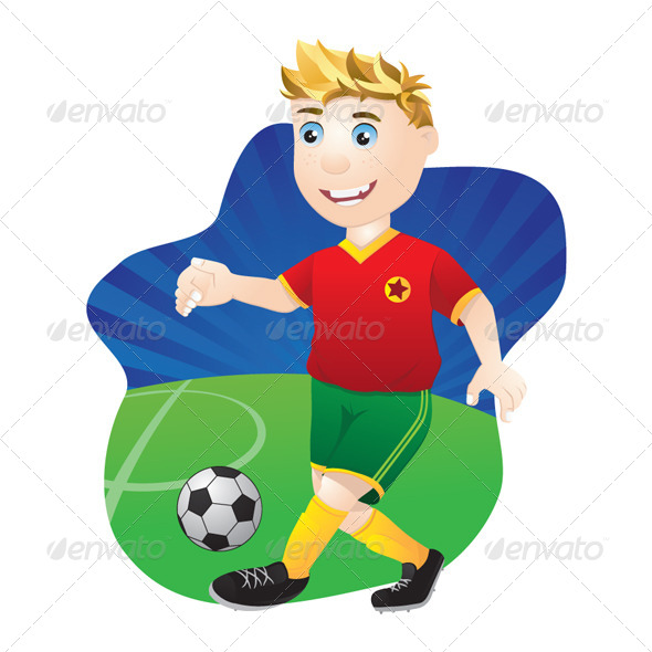 Playing Football - People Characters
