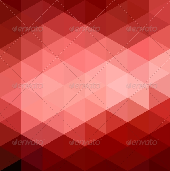 Abstract Red Geometrical Background - Abstract Conceptual