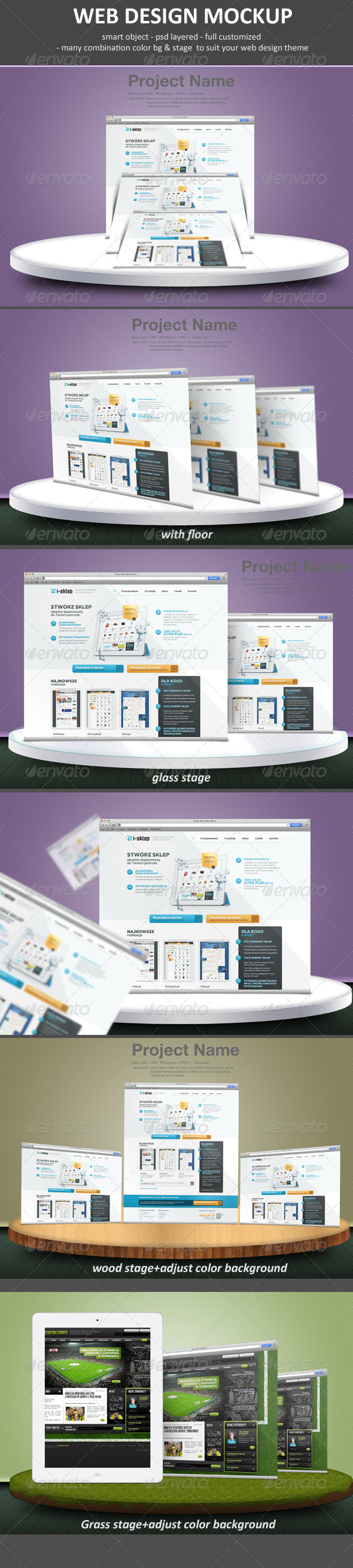 Web Design Mockup - Website Displays