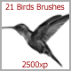21 Birds Brushes (2500px) - GraphicRiver Item for Sale