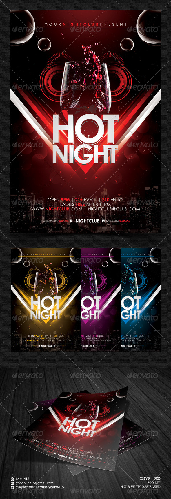 Hot Night Flyer Template - Events Flyers