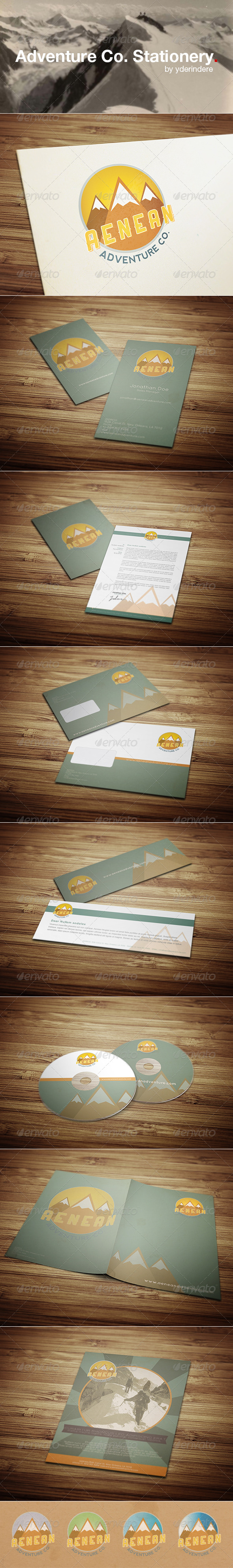 Adventure Co. - Retro Stationery 1 - Stationery Print Templates
