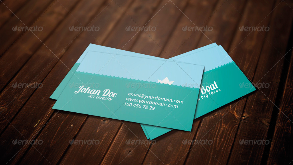 little boat business card by gokioproject graphicriver
