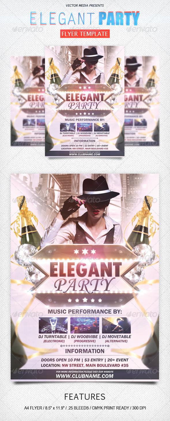 Elegant Party - Flyer - Clubs & Parties Events