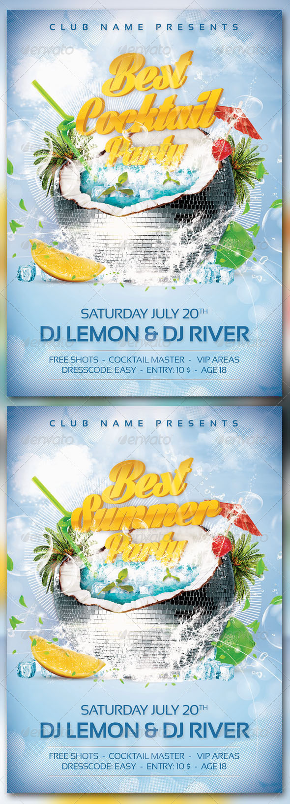 Summer-Cocktail Party - Events Flyers