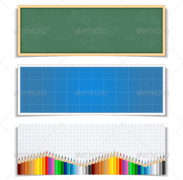 Education Banners - Conceptual Vectors