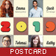 Corporate Postcard - Stamp Collage - GraphicRiver Item for Sale