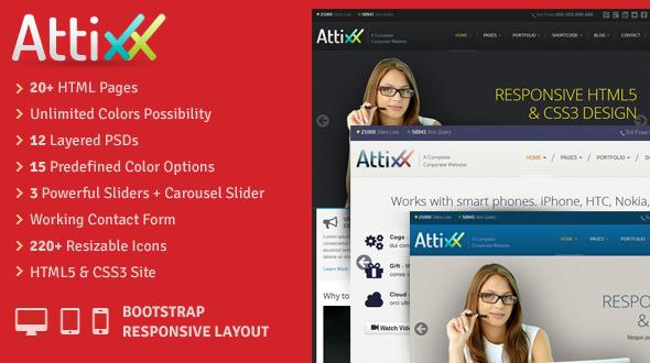 Attixx – Responsive Corporate HTML Theme